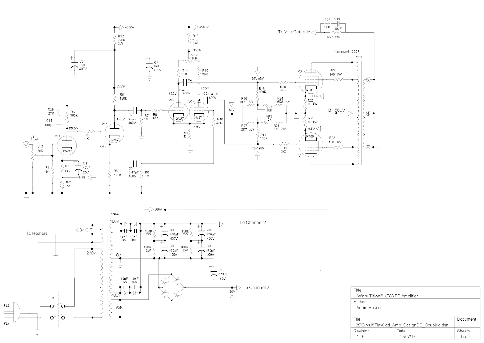 Circuit Diagram For Tinycad